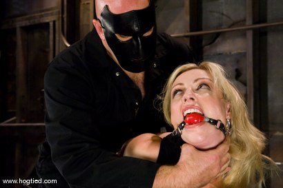 Photo number 2 from Seven is back for breast bondage, crotch rope hell,   and eye rolling massive orgasms. shot for Hogtied on Kink.com. Featuring Sgt. Major and Adrianna Nicole in hardcore BDSM & Fetish porn.