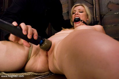 Photo number 11 from Seven is back for breast bondage, crotch rope hell,   and eye rolling massive orgasms. shot for Hogtied on Kink.com. Featuring Sgt. Major and Adrianna Nicole in hardcore BDSM & Fetish porn.