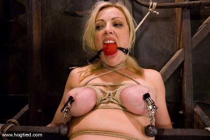 Photo number 14 from Seven is back for breast bondage, crotch rope hell,   and eye rolling massive orgasms. shot for Hogtied on Kink.com. Featuring Sgt. Major and Adrianna Nicole in hardcore BDSM & Fetish porn.