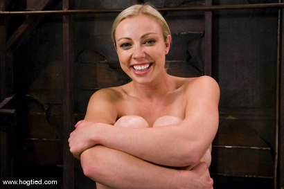 Photo number 15 from Seven is back for breast bondage, crotch rope hell,   and eye rolling massive orgasms. shot for Hogtied on Kink.com. Featuring Sgt. Major and Adrianna Nicole in hardcore BDSM & Fetish porn.