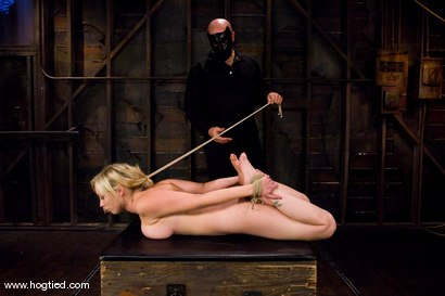 Photo number 7 from Seven is back for breast bondage, crotch rope hell,   and eye rolling massive orgasms. shot for Hogtied on Kink.com. Featuring Sgt. Major and Adrianna Nicole in hardcore BDSM & Fetish porn.