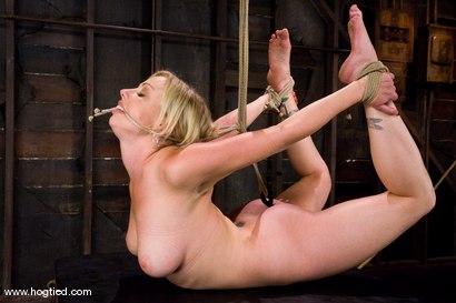 Rope bondage breast