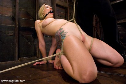 Photo number 10 from Seven is back for breast bondage, crotch rope hell, <br> and eye rolling massive orgasms. shot for Hogtied on Kink.com. Featuring Sgt. Major and Adrianna Nicole in hardcore BDSM & Fetish porn.
