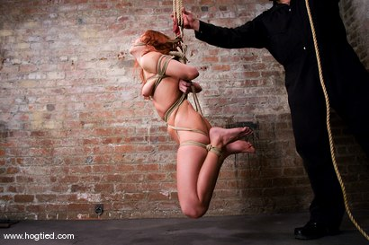Photo number 5 from Smokin hot, Smokie Flame is back on Hogtied<br>and she brought her tight, hard, shaved body with her shot for Hogtied on Kink.com. Featuring Sgt. Major and Smokie Flame in hardcore BDSM & Fetish porn.
