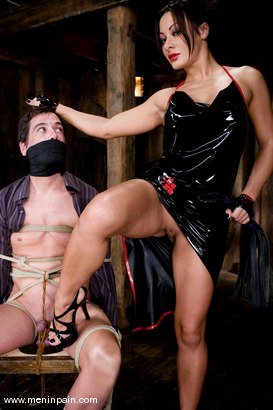 Photo number 1 from Humiliated bitch boy shot for Men In Pain on Kink.com. Featuring Sandra Romain and Julian Fornatora in hardcore BDSM & Fetish porn.