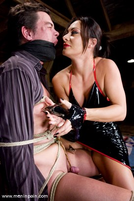 Photo number 5 from Humiliated bitch boy shot for Men In Pain on Kink.com. Featuring Sandra Romain and Julian Fornatora in hardcore BDSM & Fetish porn.