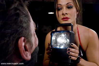 Photo number 2 from Humiliated bitch boy shot for Men In Pain on Kink.com. Featuring Sandra Romain and Julian Fornatora in hardcore BDSM & Fetish porn.