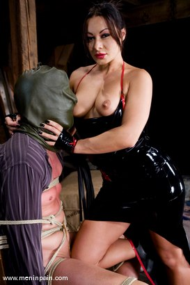 Photo number 3 from Humiliated bitch boy shot for Men In Pain on Kink.com. Featuring Sandra Romain and Julian Fornatora in hardcore BDSM & Fetish porn.