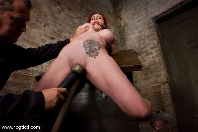 Photo number 8 from Berlin and her huge monsterous, massive<br> breasts are back for hard bondage at its best. shot for Hogtied on Kink.com. Featuring Mz Berlin in hardcore BDSM & Fetish porn.