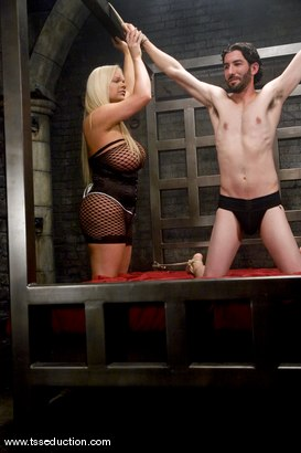 Photo number 2 from Holly Sweet and Omar shot for TS Seduction on Kink.com. Featuring Holly Sweet and Omar in hardcore BDSM & Fetish porn.