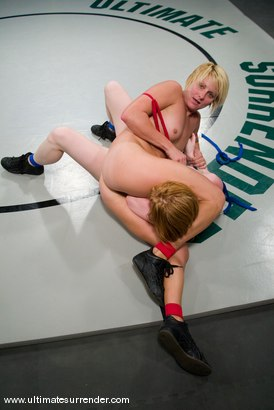 """Photo number 11 from Vendetta (11-3)<br>vs<br>Madison Young """"The Butcher"""" (2-0) shot for Ultimate Surrender on Kink.com. Featuring Vendetta and Madison Young in hardcore BDSM & Fetish porn."""