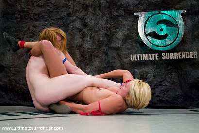 """Photo number 5 from Vendetta (11-3)<br>vs<br>Madison Young """"The Butcher"""" (2-0) shot for Ultimate Surrender on Kink.com. Featuring Vendetta and Madison Young in hardcore BDSM & Fetish porn."""