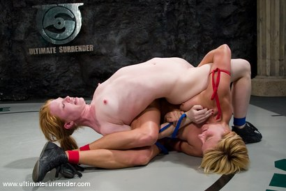 """Photo number 7 from Vendetta (11-3)<br>vs<br>Madison Young """"The Butcher"""" (2-0) shot for Ultimate Surrender on Kink.com. Featuring Vendetta and Madison Young in hardcore BDSM & Fetish porn."""