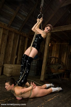 Photo number 6 from Big tits Bound and shocked shot for wiredpussy on Kink.com. Featuring Saffron in hardcore BDSM & Fetish porn.