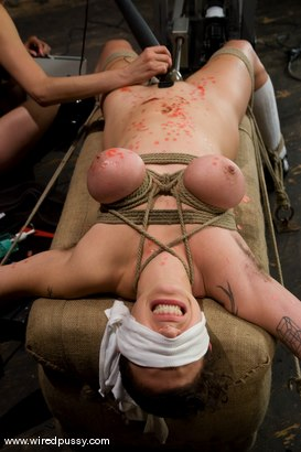 Photo number 9 from Big tits Bound and shocked shot for wiredpussy on Kink.com. Featuring Saffron in hardcore BDSM & Fetish porn.