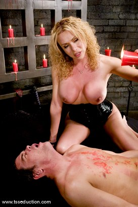 Photo number 5 from Gia Darling and Julian shot for TS Seduction on Kink.com. Featuring Gia Darling and Julian Fornatora in hardcore BDSM & Fetish porn.