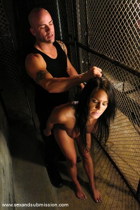 Photo number 6 from Prisoner shot for Sex And Submission on Kink.com. Featuring Derrick Pierce and Savannah Stern in hardcore BDSM & Fetish porn.
