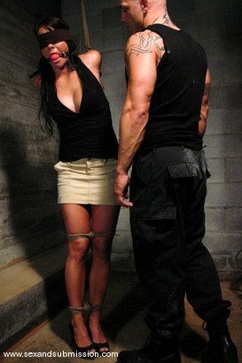 Photo number 2 from Prisoner shot for Sex And Submission on Kink.com. Featuring Derrick Pierce and Savannah Stern in hardcore BDSM & Fetish porn.