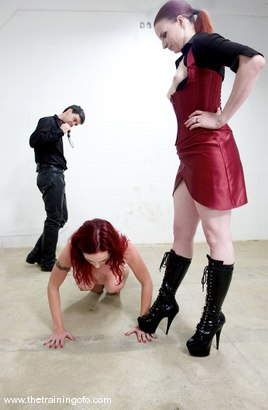 Photo number 6 from The Training of Berlin, Day Two shot for The Training Of O on Kink.com. Featuring Mz Berlin and Claire Adams in hardcore BDSM & Fetish porn.