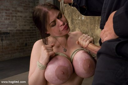 Photo number 13 from Welcom back Daphne Rosen and<br>her huge 34G breasts. Tits worth tying up! shot for Hogtied on Kink.com. Featuring Daphne Rosen in hardcore BDSM & Fetish porn.