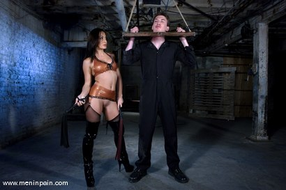Photo number 7 from So, you wanna be a P.A.? shot for Men In Pain on Kink.com. Featuring Sandra Romain and Casper Coxx in hardcore BDSM & Fetish porn.