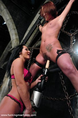 Photo number 2 from Sandra Romain machines Sara Faye shot for Fucking Machines on Kink.com. Featuring Sandra Romain and Sara Faye in hardcore BDSM & Fetish porn.