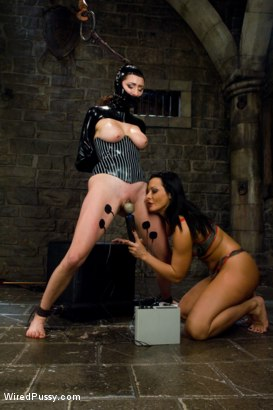 Photo number 11 from Princess Donna is Sandra's Electro-Submissive!! shot for Wired Pussy on Kink.com. Featuring Sandra Romain and Princess Donna Dolore in hardcore BDSM & Fetish porn.