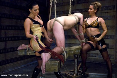 Photo number 2 from Double Teamed shot for Men In Pain on Kink.com. Featuring Sandra Romain, Isis Love and Lefty in hardcore BDSM & Fetish porn.