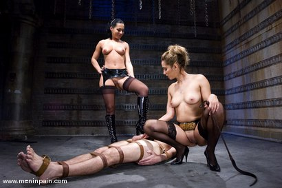 Photo number 11 from Double Teamed shot for Men In Pain on Kink.com. Featuring Sandra Romain, Isis Love and Lefty in hardcore BDSM & Fetish porn.