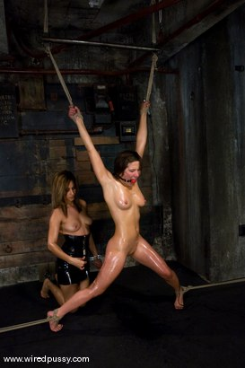 Photo number 11 from Lesbian Amateur gets dominated and fucked shot for Wired Pussy on Kink.com. Featuring Vai and Isis Love in hardcore BDSM & Fetish porn.