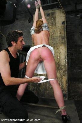 Photo number 4 from Shy Girl shot for Sex And Submission on Kink.com. Featuring Steve Holmes and Riley Shy in hardcore BDSM & Fetish porn.