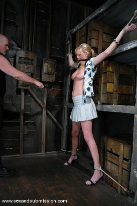 Photo number 2 from Voluptuous Vonn shot for Sex And Submission on Kink.com. Featuring Mark Davis and Victoria Vonn in hardcore BDSM & Fetish porn.