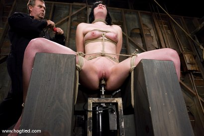 Photo number 7 from Andy San Dimas in her first of many Hogtied vistis.<br>Tickled, gagged, suspended, made to cum. shot for Hogtied on Kink.com. Featuring Andy San Dimas in hardcore BDSM & Fetish porn.