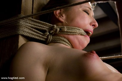 Photo number 10 from Cute local girl applies to hogtied, 4 hours later she is<br> bound, gagged, and made to cum. shot for Hogtied on Kink.com. Featuring Alyssa in hardcore BDSM & Fetish porn.
