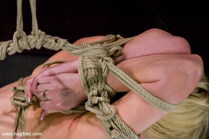 Photo number 8 from Samantha Sin - blond, shaved, <br>toned, and a former gymnast - now a first time bondage model. shot for Hogtied on Kink.com. Featuring Samantha Sin in hardcore BDSM & Fetish porn.