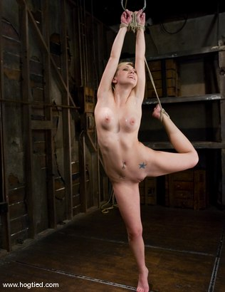 Photo number 14 from Samantha Sin - blond, shaved, <br>toned, and a former gymnast - now a first time bondage model. shot for Hogtied on Kink.com. Featuring Samantha Sin in hardcore BDSM & Fetish porn.