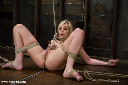 Photo number 7 from Samantha Sin - blond, shaved, <br>toned, and a former gymnast - now a first time bondage model. shot for Hogtied on Kink.com. Featuring Samantha Sin in hardcore BDSM & Fetish porn.