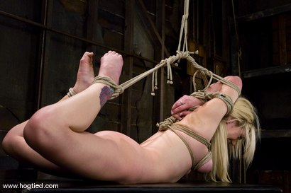 Photo number 9 from Samantha Sin - blond, shaved, <br>toned, and a former gymnast - now a first time bondage model. shot for Hogtied on Kink.com. Featuring Samantha Sin in hardcore BDSM & Fetish porn.