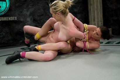 "Photo number 2 from Ariel X ""The Assassin"" (5-2) <br>vs<br>Samantha Sin ""The Python"" (0-1) shot for Ultimate Surrender on Kink.com. Featuring Samantha Sin and Ariel X in hardcore BDSM & Fetish porn."