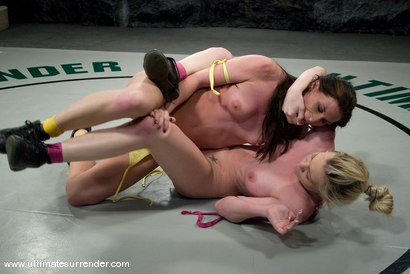 "Photo number 11 from Ariel X ""The Assassin"" (5-2) <br>vs<br>Samantha Sin ""The Python"" (0-1) shot for Ultimate Surrender on Kink.com. Featuring Samantha Sin and Ariel X in hardcore BDSM & Fetish porn."