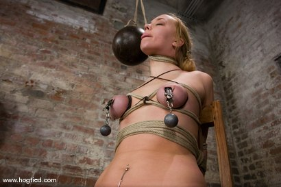"""Photo number 13 from Our 6'0"""", German Amazonian Goddess is back.<br> Annette Schwarz, like you have never seen her before shot for Hogtied on Kink.com. Featuring Annette Schwarz in hardcore BDSM & Fetish porn."""