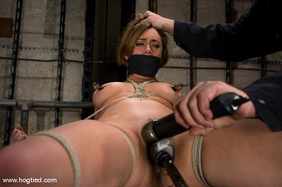 Photo number 8 from If you're a hot, sexy construction worker working<br> in the armory, you're getting tied up. shot for Hogtied on Kink.com. Featuring Gwen Diamond and Sgt. Major in hardcore BDSM & Fetish porn.