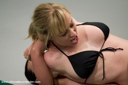 "Photo number 3 from Adrianna Nicole ""The Adrianaconda""  (2-0) <br>vs<br> Wenona ""The Gymnast""(5-5) shot for Ultimate Surrender on Kink.com. Featuring Wenona and Adrianna Nicole in hardcore BDSM & Fetish porn."