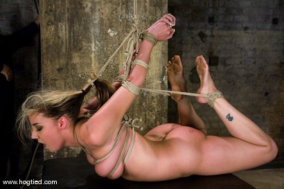 Photo number 7 from It's new face month at Hogtied, and Delilah Strong<br> suffers through some extremely tight bondage. shot for Hogtied on Kink.com. Featuring Delilah Strong in hardcore BDSM & Fetish porn.