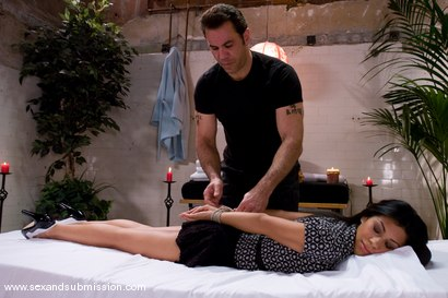 Photo number 1 from The Massage shot for Sex And Submission on Kink.com. Featuring Steven St. Croix and Cassandra Cruz in hardcore BDSM & Fetish porn.