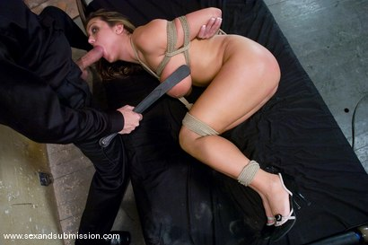 Photo number 9 from Trina Michaels shot for Sex And Submission on Kink.com. Featuring Steve Holmes and Trina Michaels in hardcore BDSM & Fetish porn.