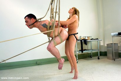Photo number 9 from The Check Up shot for Men In Pain on Kink.com. Featuring Lexi Love and Rico in hardcore BDSM & Fetish porn.