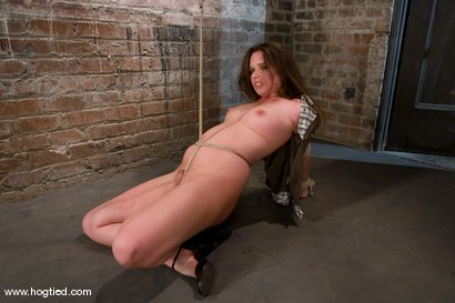 Photo number 5 from Devaun in her first Hogtied shoot suffers   though a real time, no cuts, no breaks, brutal update. shot for Hogtied on Kink.com. Featuring Devaun in hardcore BDSM & Fetish porn.