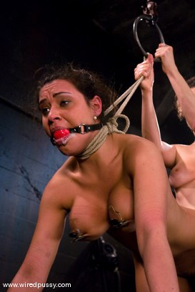 Photo number 11 from Charlie's Natural 34 DD's get tied and shocked! shot for Wired Pussy on Kink.com. Featuring Charley Chase in hardcore BDSM & Fetish porn.