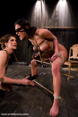 Photo number 1 from Charlie's Natural 34 DD's get tied and shocked! shot for Wired Pussy on Kink.com. Featuring Charley Chase in hardcore BDSM & Fetish porn.